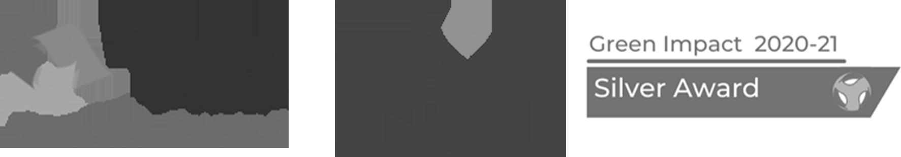 Athena Swan Bronze Award, HR Excellence in Research Award, Green Impact Silver Award