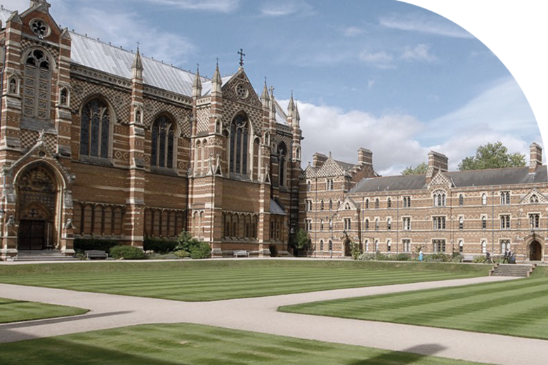 An image of the front quad at Keble College