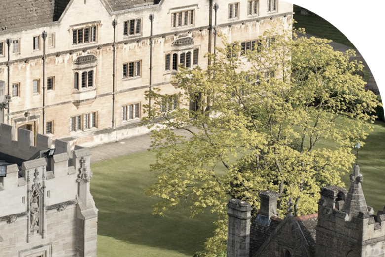An aerial view of Magdalen college